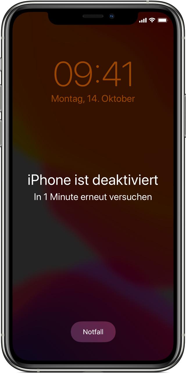 iPhone deaktiviert - Daten retten